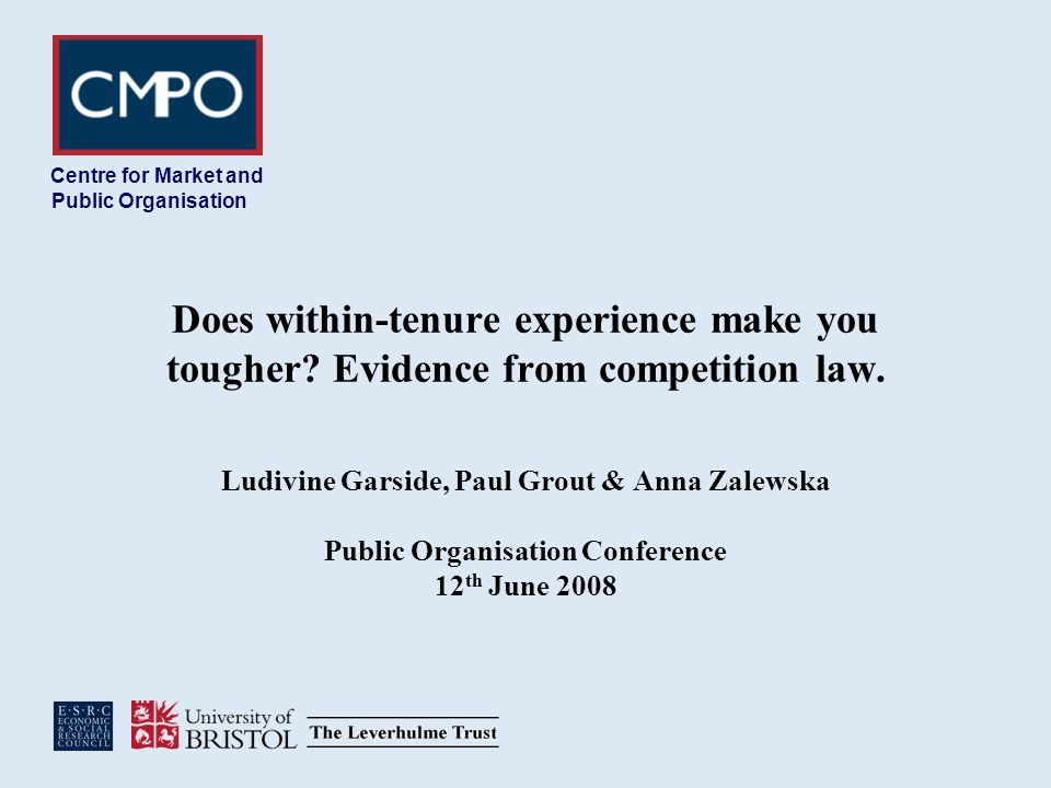 Does within-tenure experience make you tougher. Evidence from competition law.
