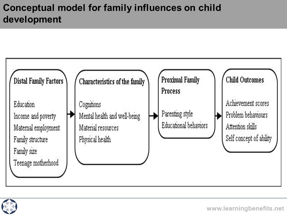 Conceptual model for family influences on child development