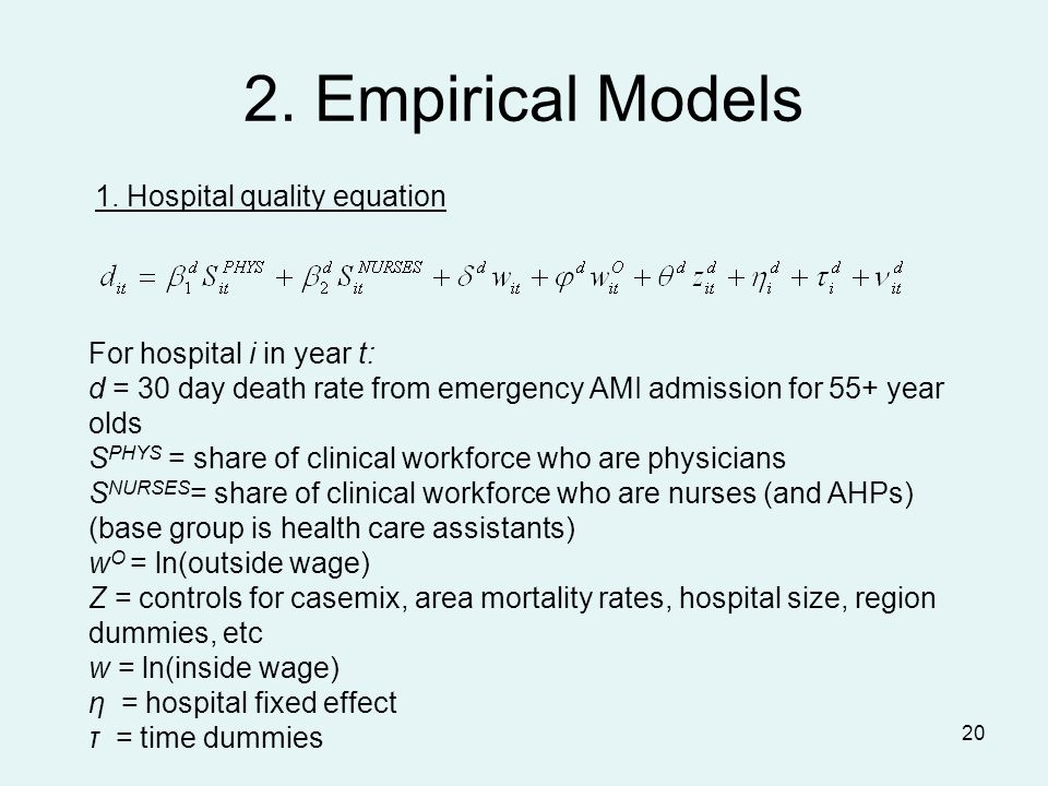 20 2. Empirical Models 1.