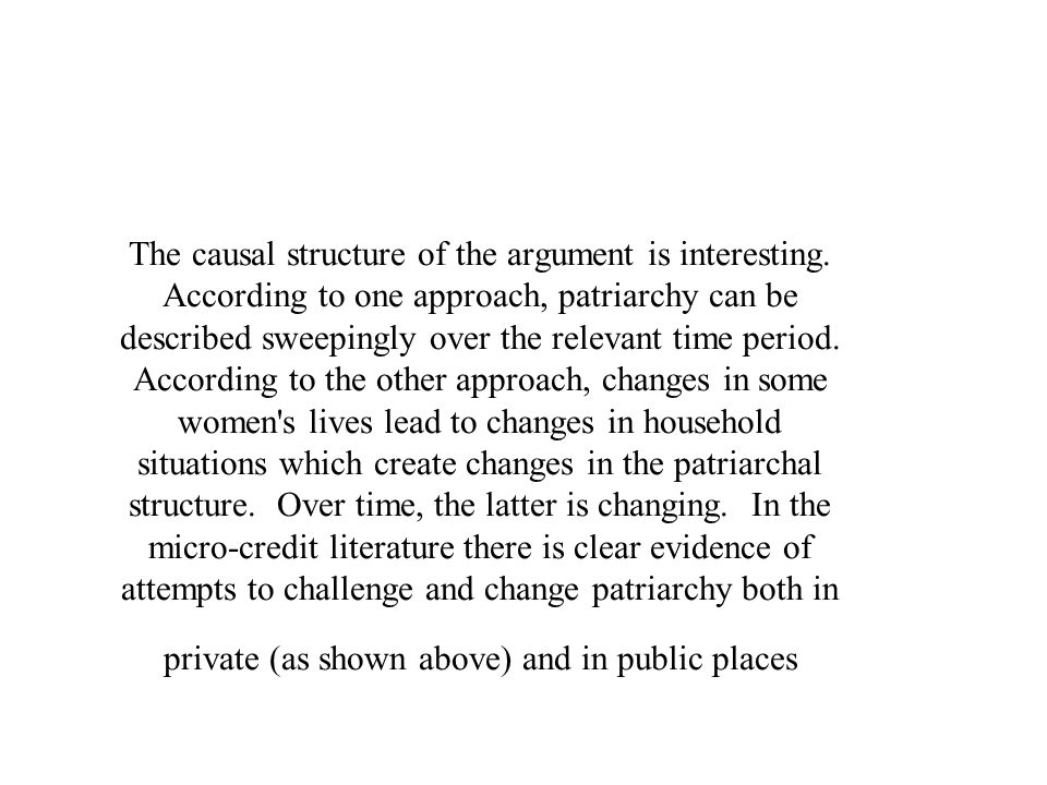 The causal structure of the argument is interesting.
