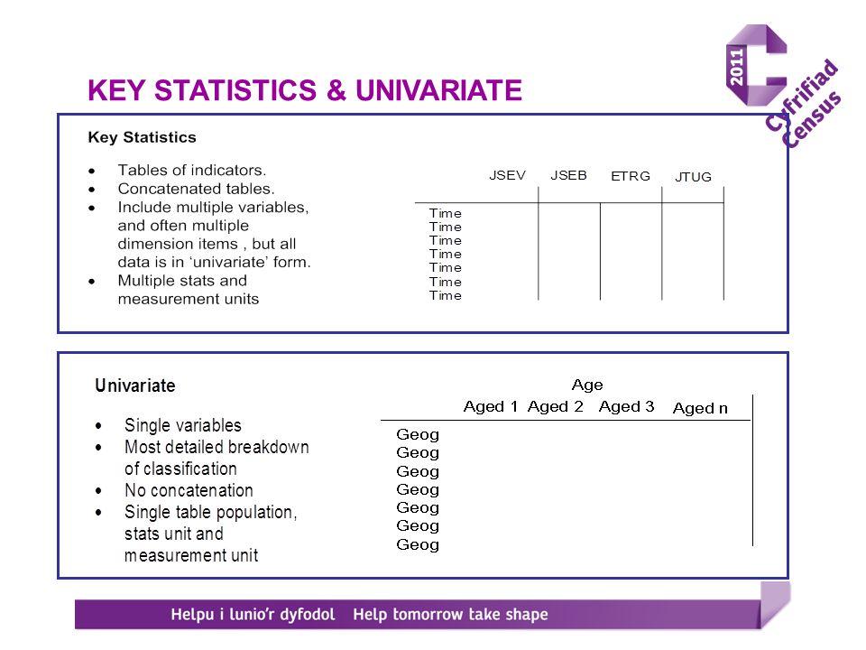KEY STATISTICS & UNIVARIATE