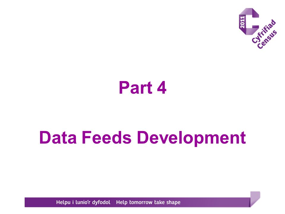 Part 4 Data Feeds Development
