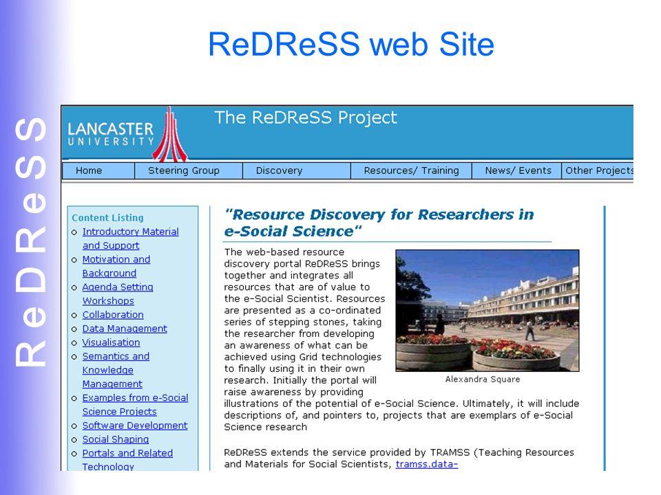 R e D R e S S 12 ReDReSS web Site