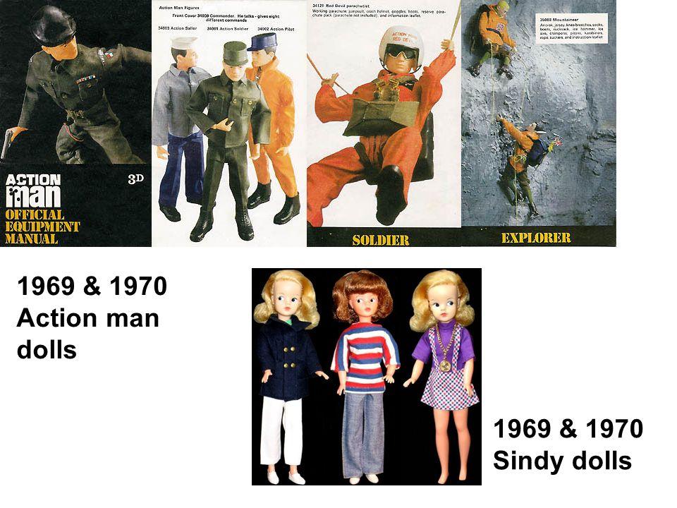 1969 & 1970 Action man dolls 1969 & 1970 Sindy dolls