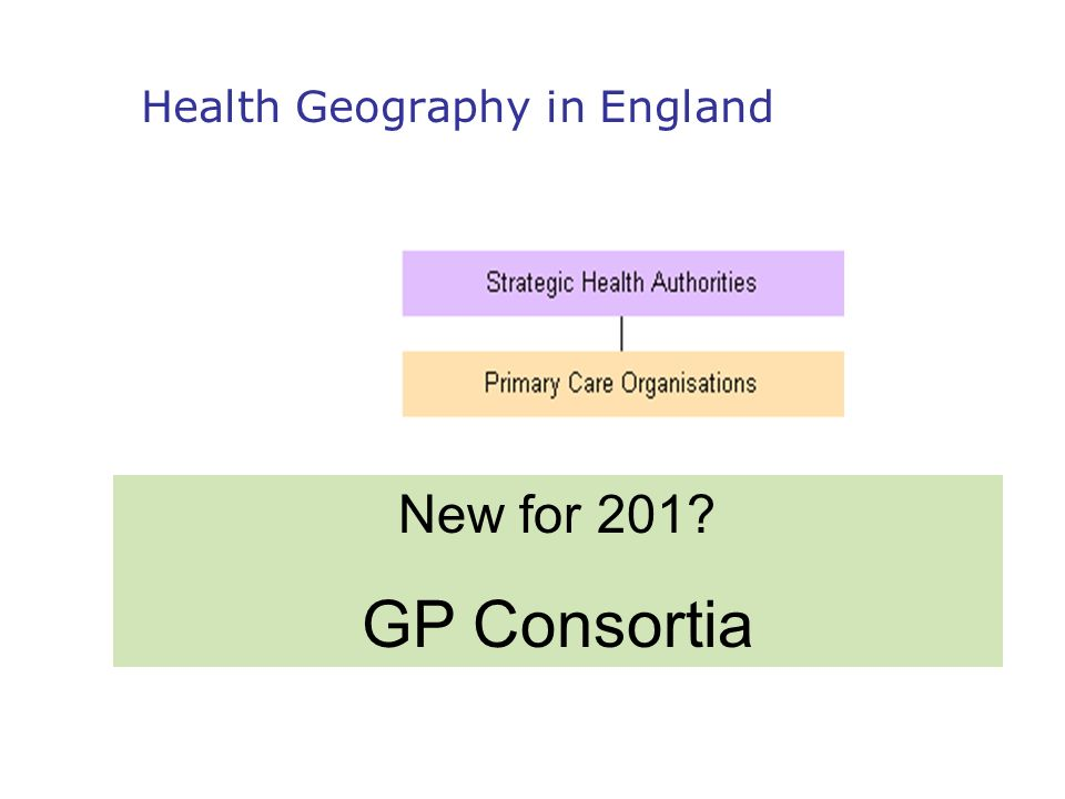 New for 201? GP Consortia