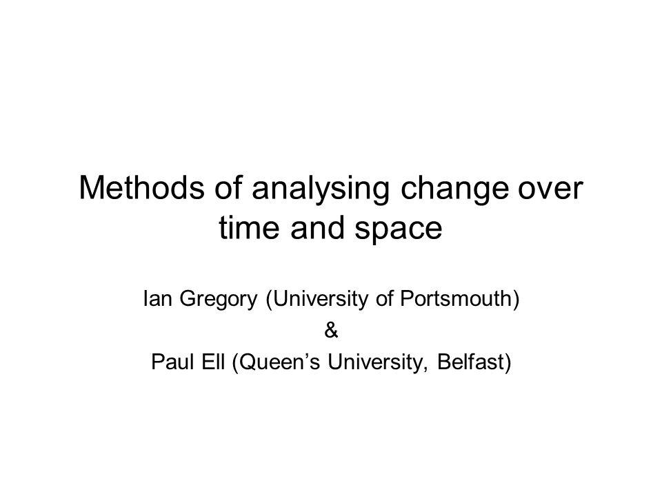 Advantages of temporal GIS data 1.