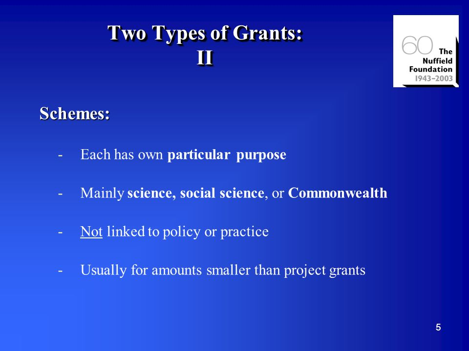 16 Project Grants: Application Procedure Full details given in Guide and on our Website www.nuffieldfoundation.org Procedure: 2-3 page outline Full application In-house scrutiny Referees: independent and peer review but this may include experts other than academics Decision by Trustees or expert Committee Usually yes, conditional yes or no; rarely revise and resubmit