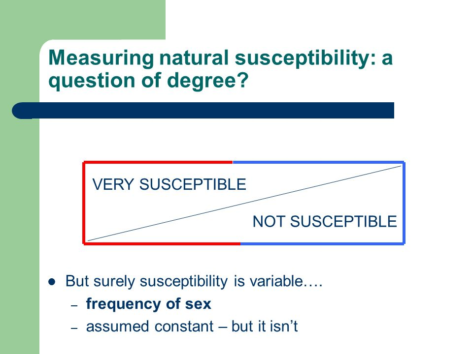Measuring natural susceptibility: a question of degree.