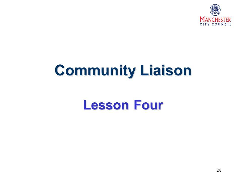 28 Community Liaison Lesson Four