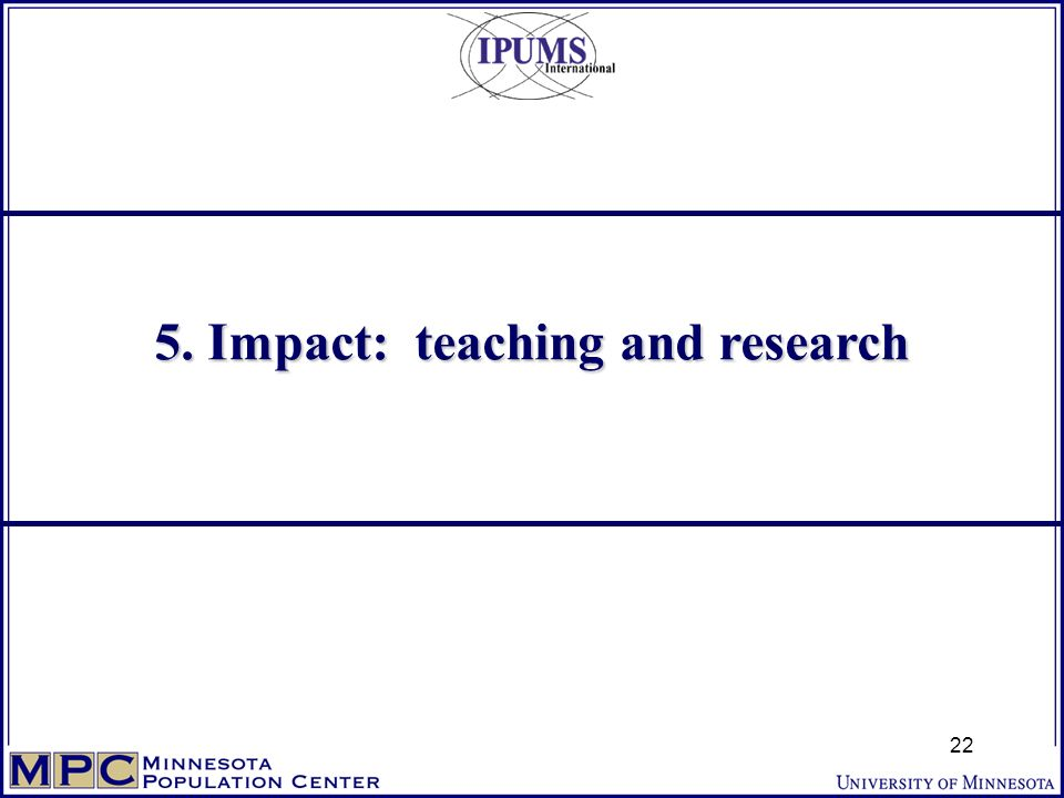 5. Impact: teaching and research 22