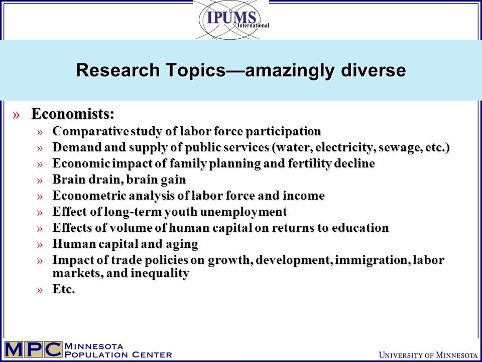 Research Topicsamazingly diverse » Economists: » Comparative study of labor force participation » Demand and supply of public services (water, electri