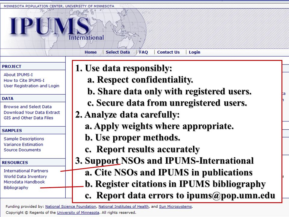 1.Use data responsibly: a. Respect confidentiality.