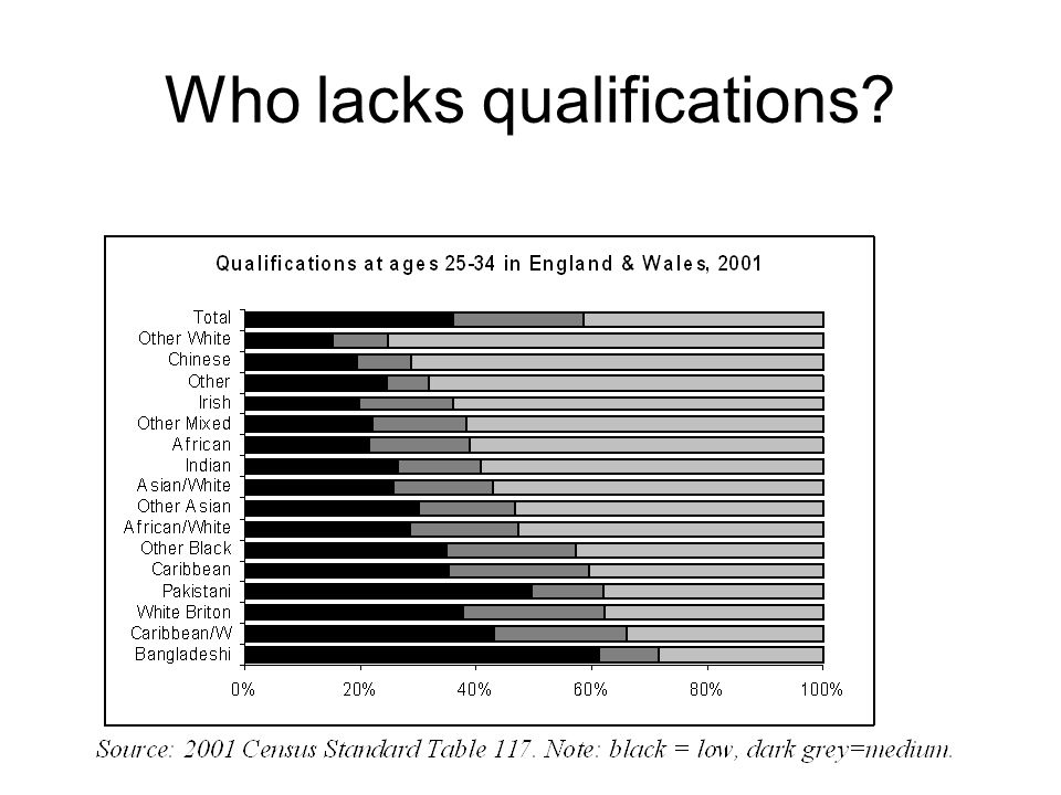 Who lacks qualifications?