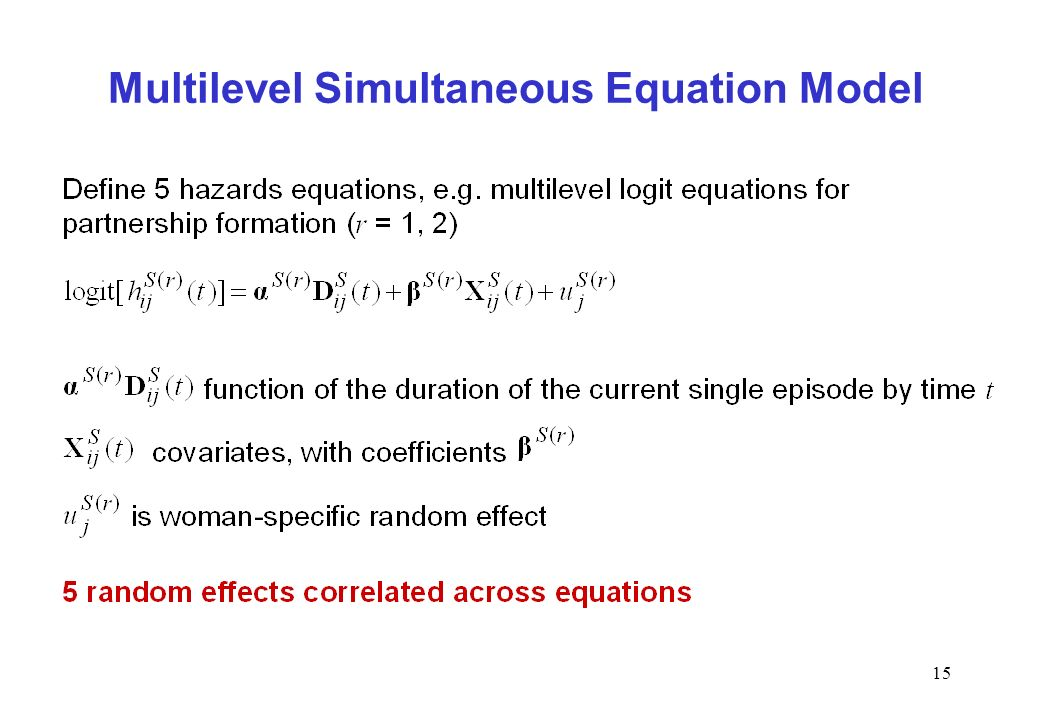 15 Multilevel Simultaneous Equation Model
