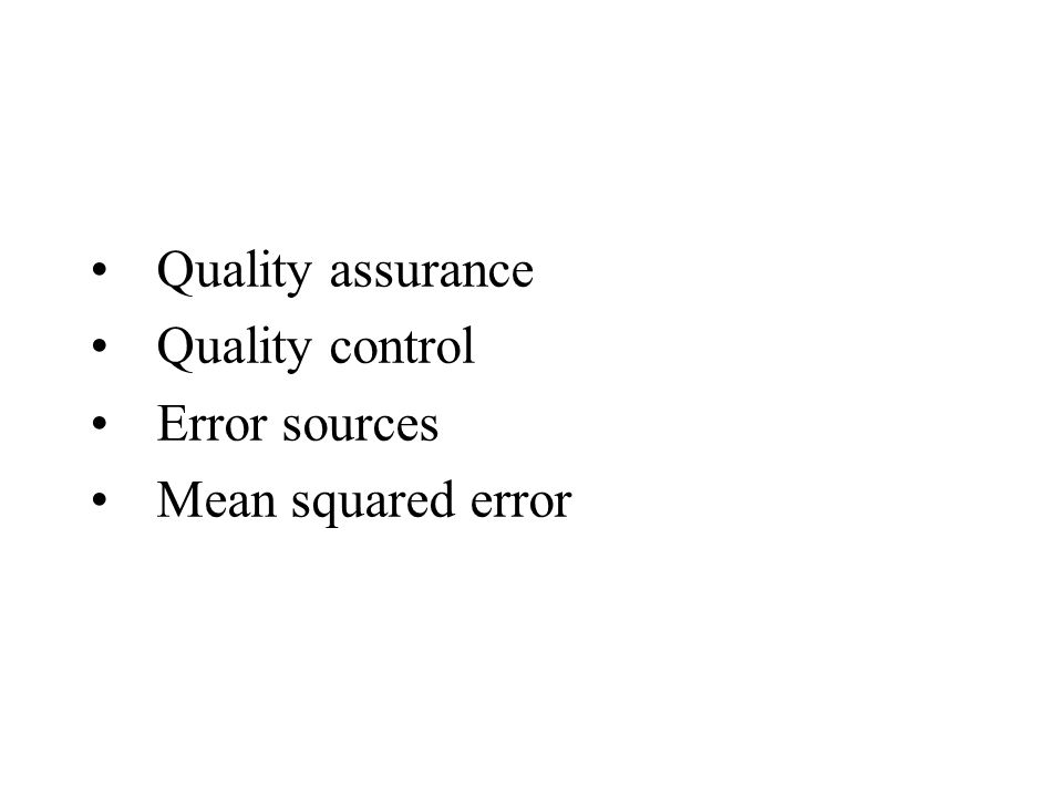 174 Introduction to Survey Quality, (2003), Biemer and Lyberg Major division of sampling and nonsampling error Adds specification error (a la construct validity) or relevance error Formally discusses process quality Discusses fitness for use as quality definition