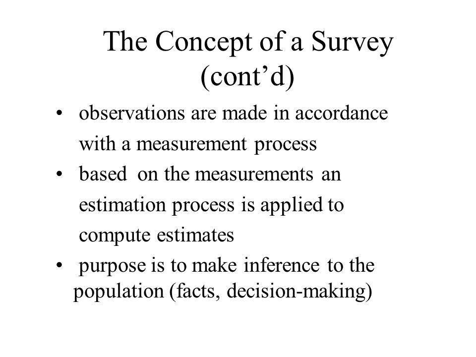 A Standard Is… A document that –describes methods and procedures for the collecting, processing, storing, and presenting survey data.