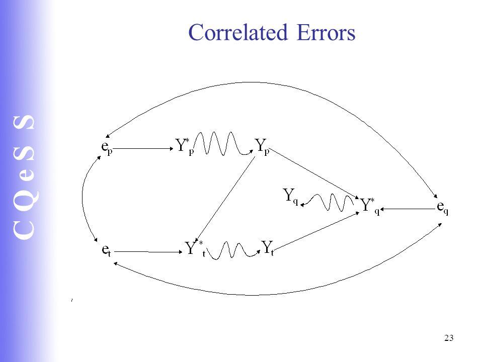 C Q e S S 23 Correlated Errors