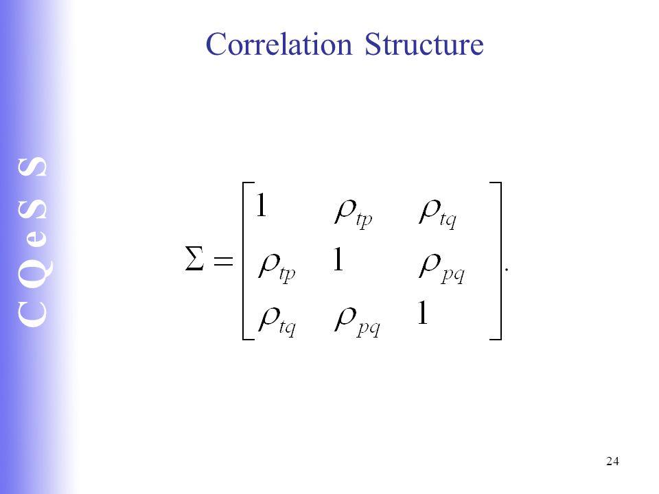 C Q e S S 24 Correlation Structure