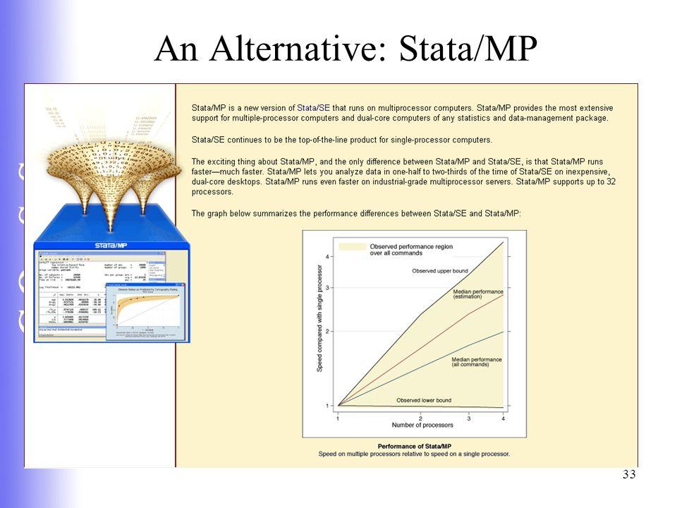 C Q e S S 33 An Alternative: Stata/MP