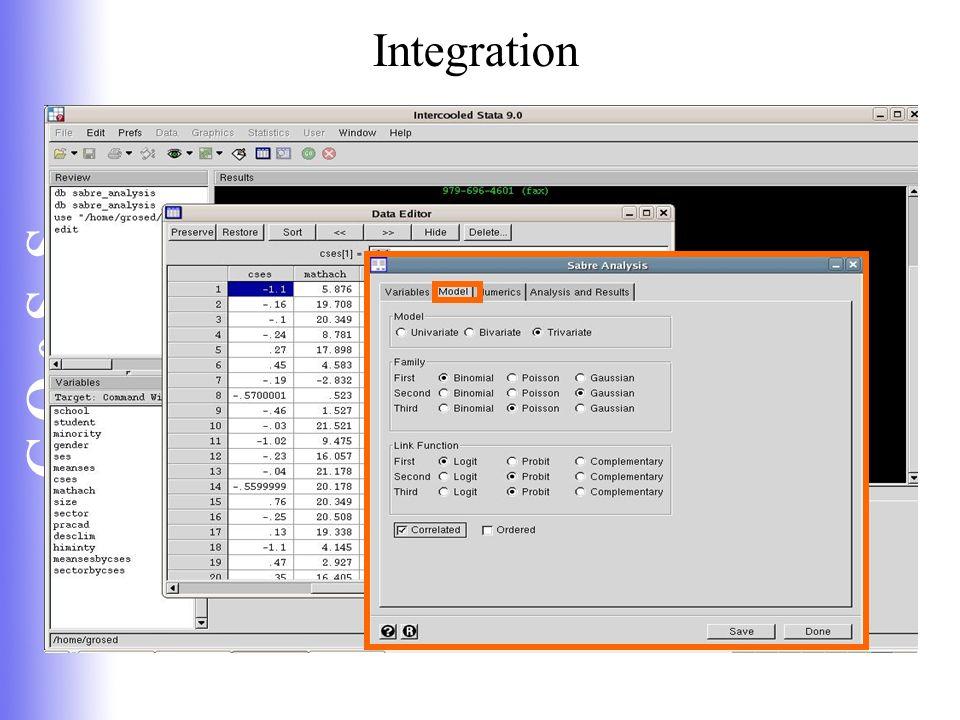 C Q e S S Integration
