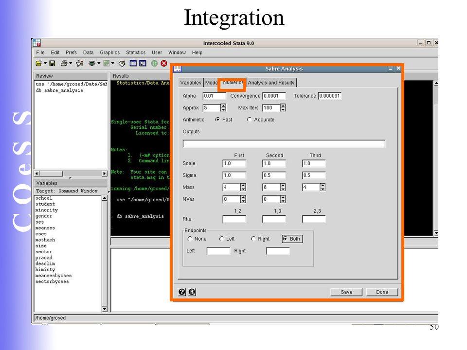 C Q e S S 50 Integration