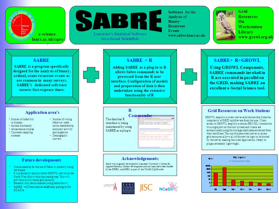 C Q e S S Middleware for e-Social Science Development of a parallel, multilevel, multi- process (OGSA) implementation of SABRE as an R object to enabl