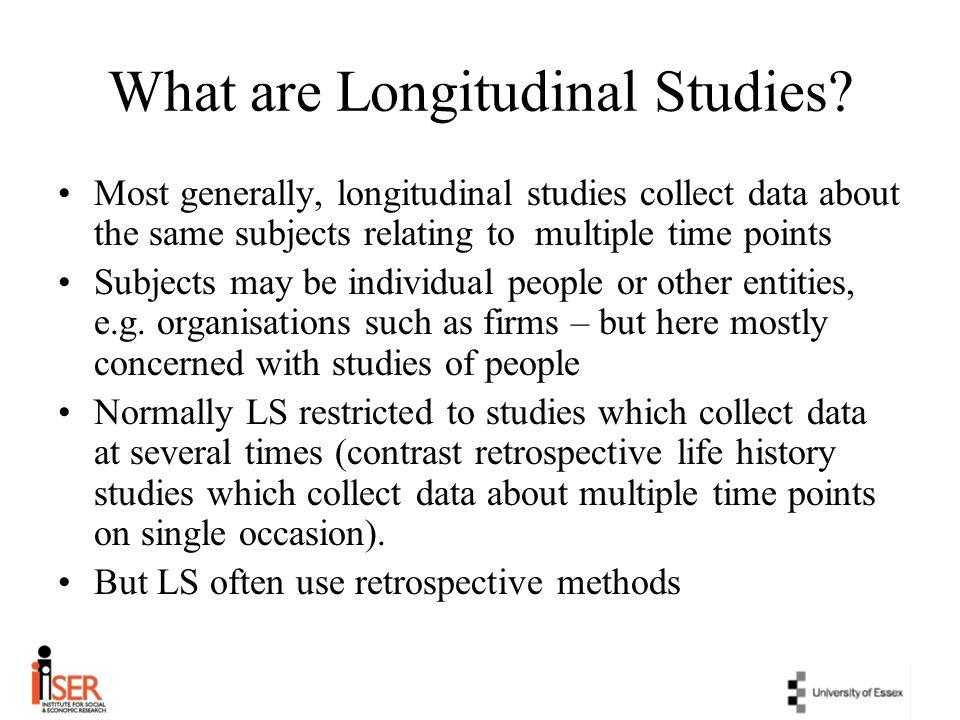 Why longitudinal research.