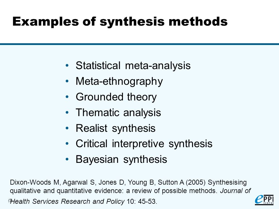 (6) Why synthesise quantitative research.Meta-analysis refers to the analysis of analyses...