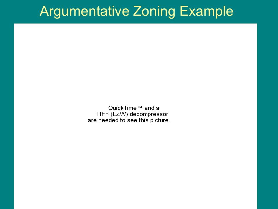 Argumentative Zoning Example