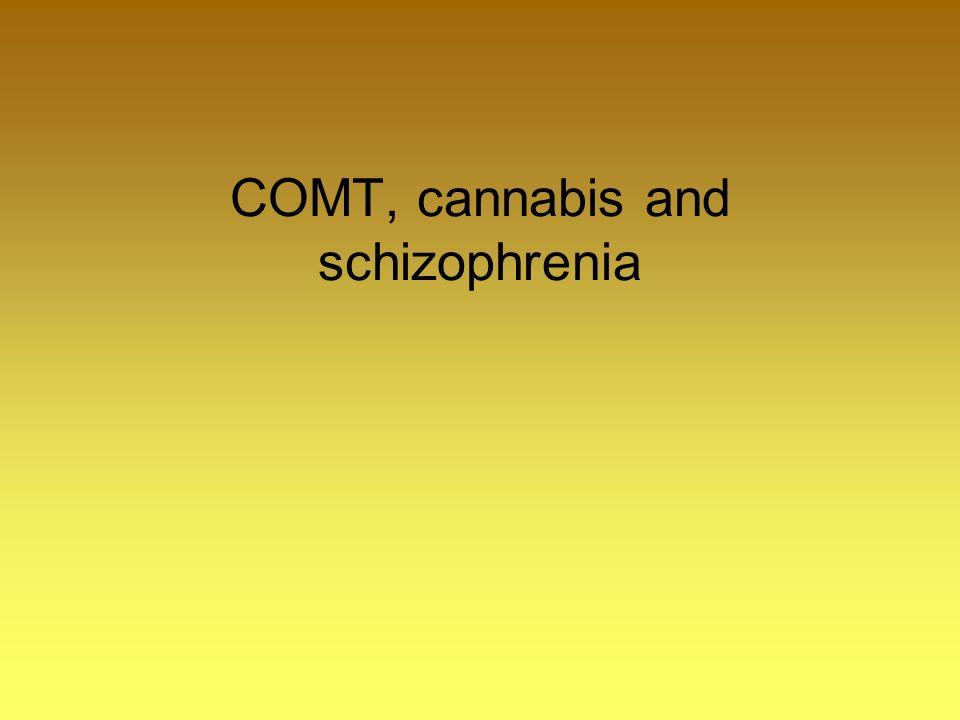 COMT, cannabis and schizophrenia