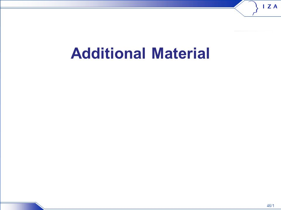 46/1 Additional Material