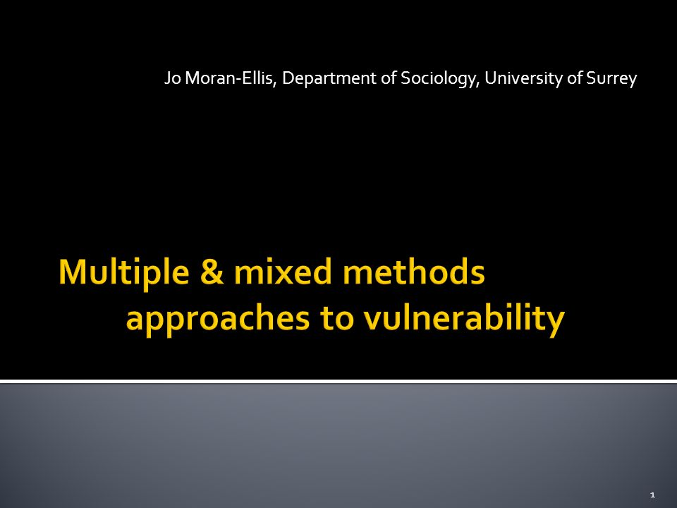 Jo Moran-Ellis, Department of Sociology, University of Surrey 1