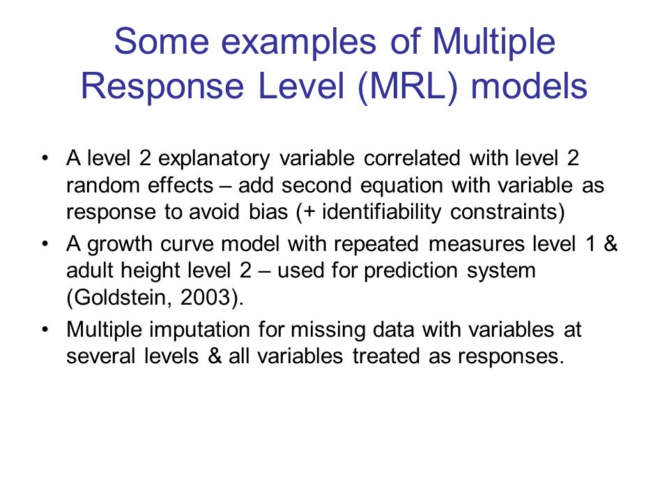 Linear growth curve model See Henderson et al, 2002 for related example with survival data