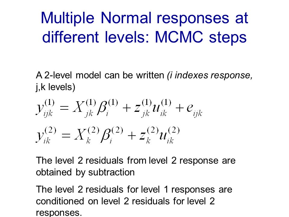 are multivariate Normal with structured covariance matrix (e.g.