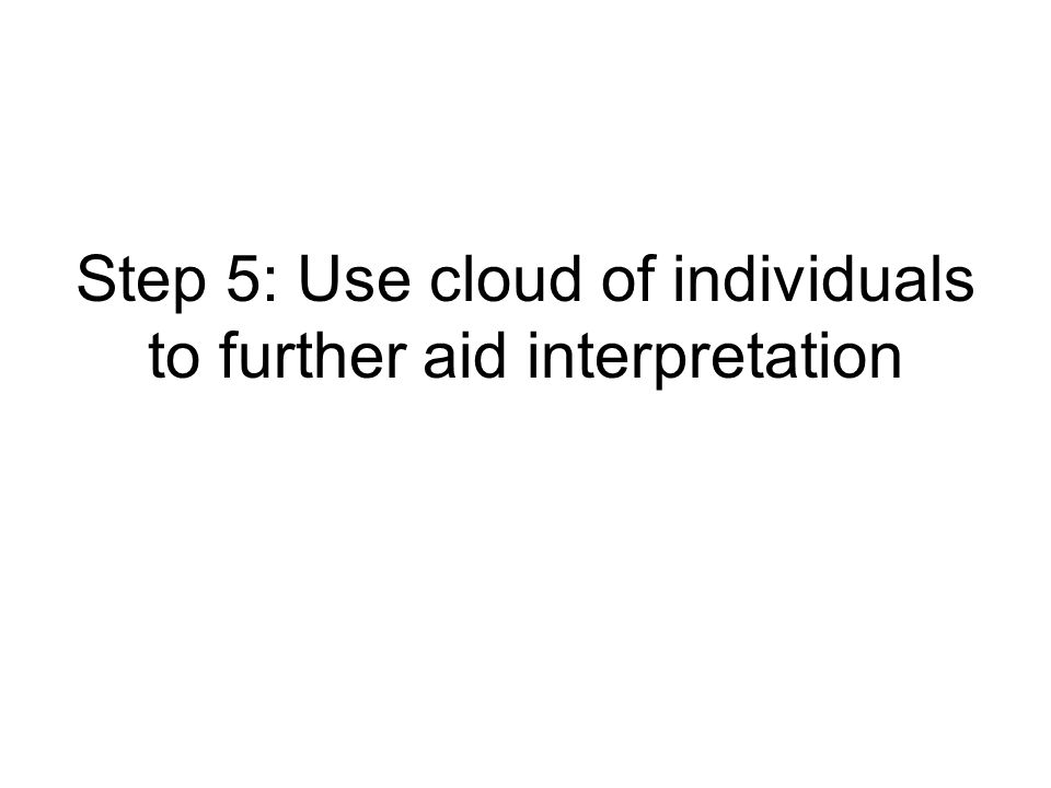 Step 5: Use cloud of individuals to further aid interpretation
