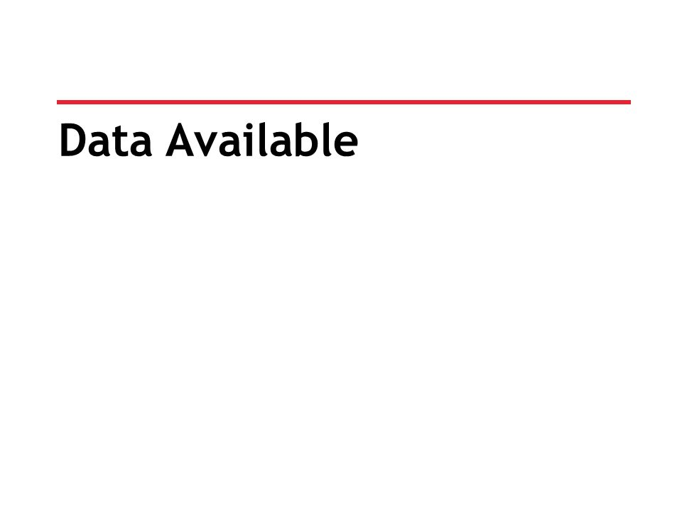 Data Available