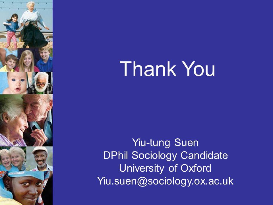 Yiu-tung Suen DPhil Sociology Candidate University of Oxford Yiu.suen@sociology.ox.ac.uk Thank You