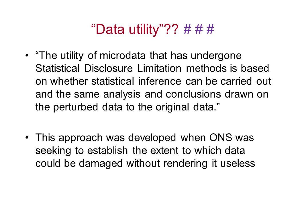 Data utility .