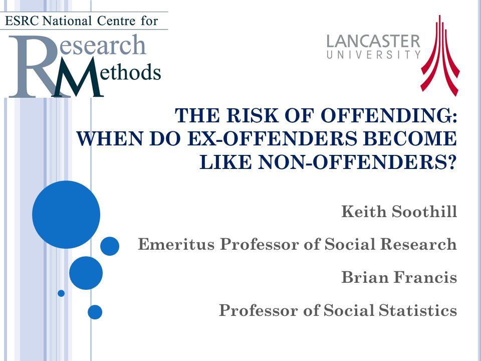THE RISK OF OFFENDING: WHEN DO EX-OFFENDERS BECOME LIKE NON-OFFENDERS.