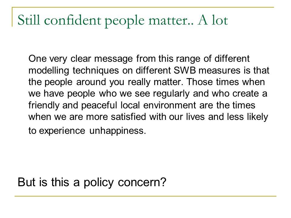 Still confident people matter..