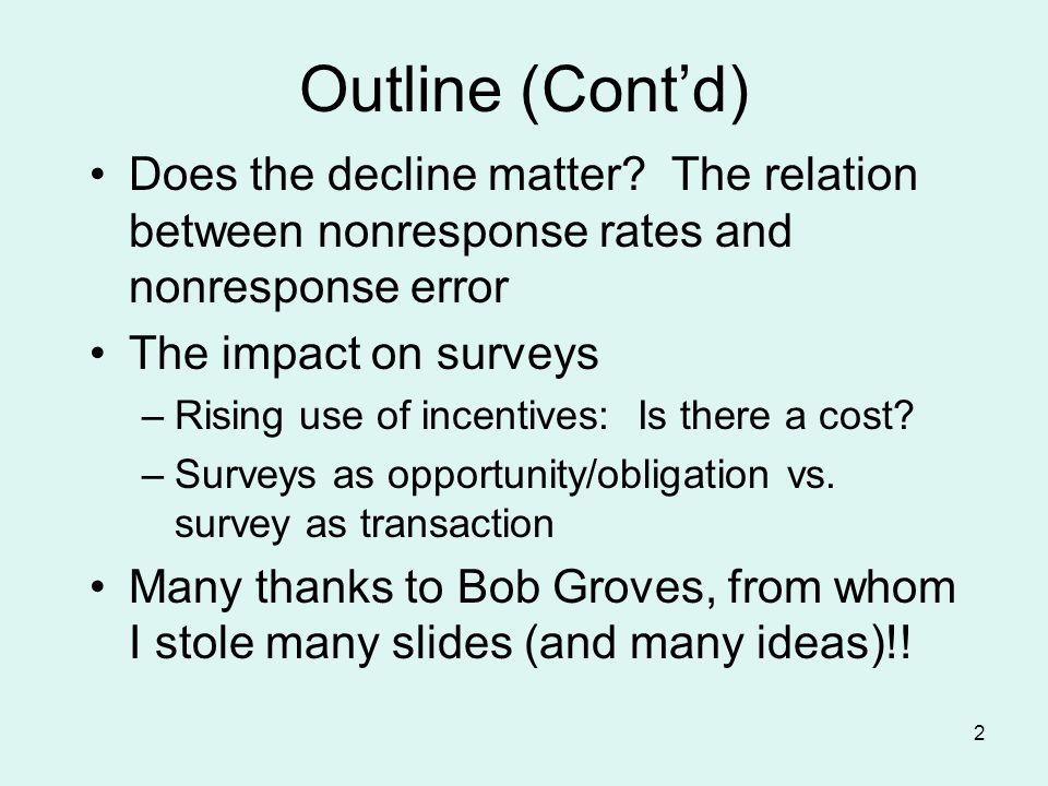 43 Keeter, Miller, Kohut, Groves, & Presser Compared two surveysstandard vs.