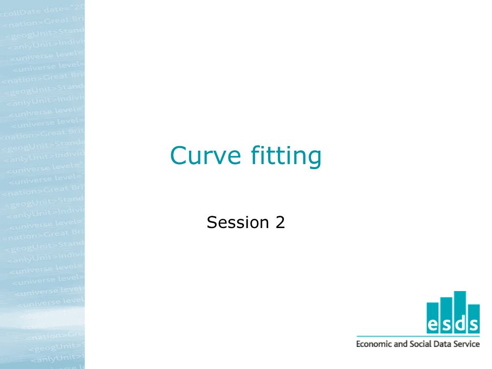 Curve fitting Session 2