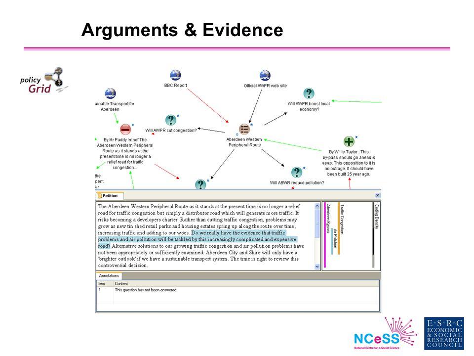 Arguments & Evidence