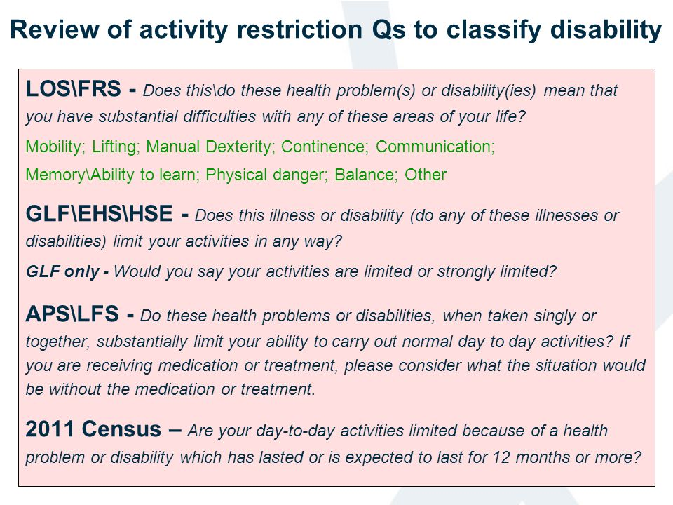 LOS\FRS - Does this\do these health problem(s) or disability(ies) mean that you have substantial difficulties with any of these areas of your life? Mo