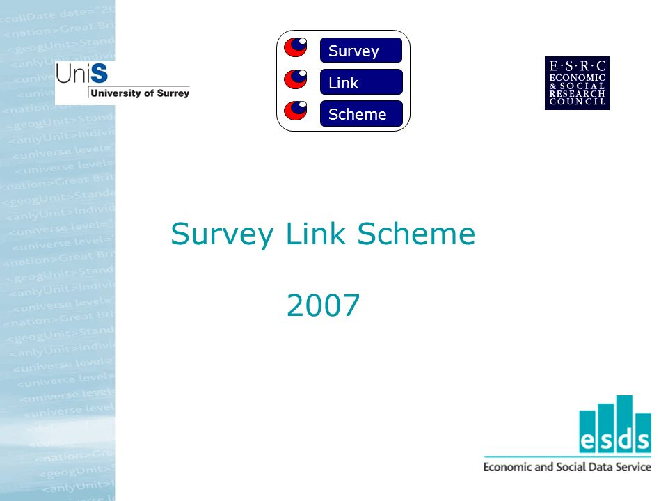 Survey Link Scheme 2007 Survey Link Scheme