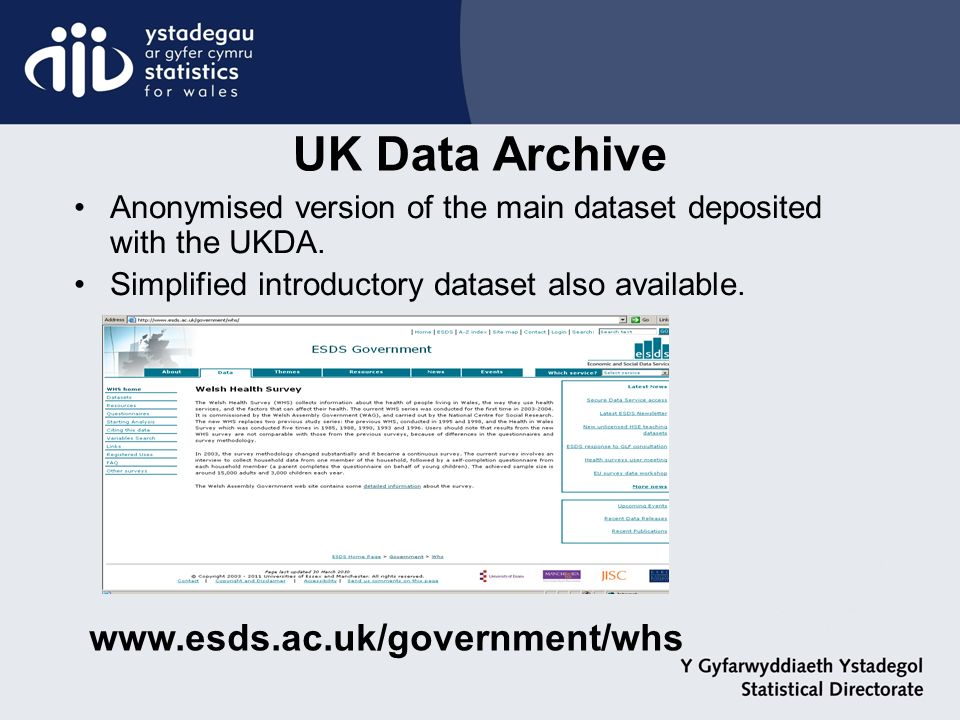 Anonymised version of the main dataset deposited with the UKDA.