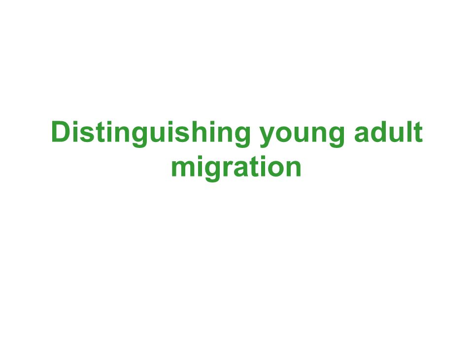 Distinguishing young adult migration