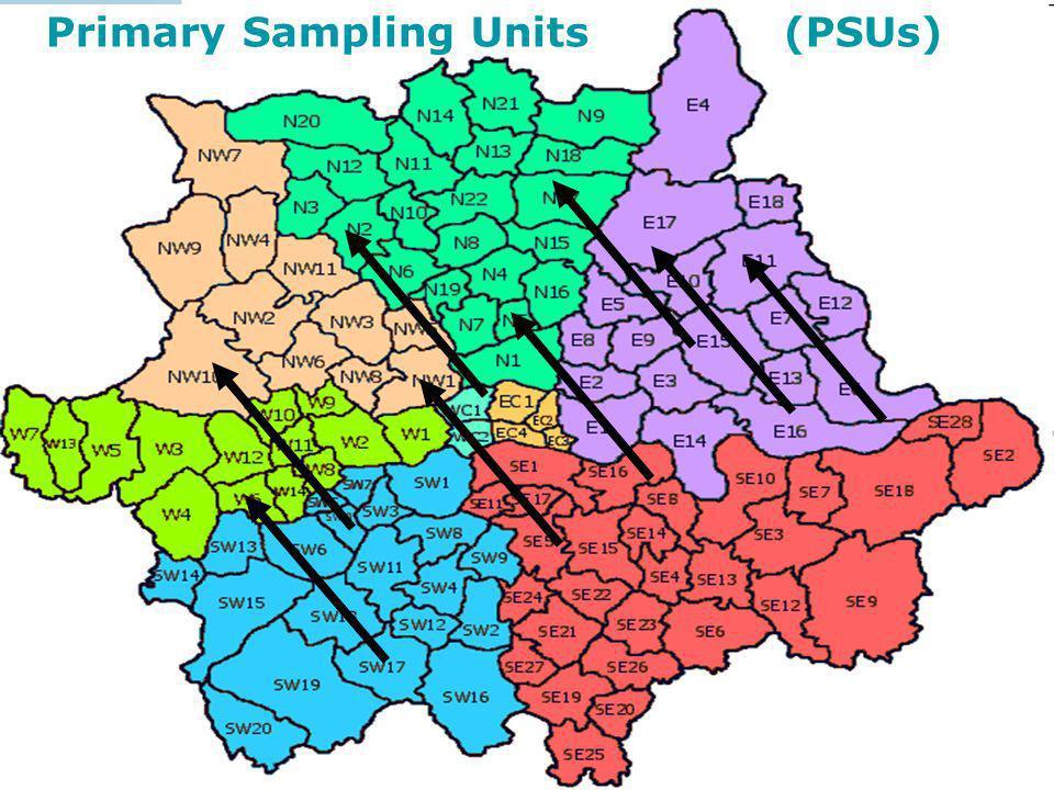 Primary Sampling Units (PSUs)