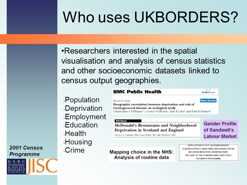 Who uses UKBORDERS.