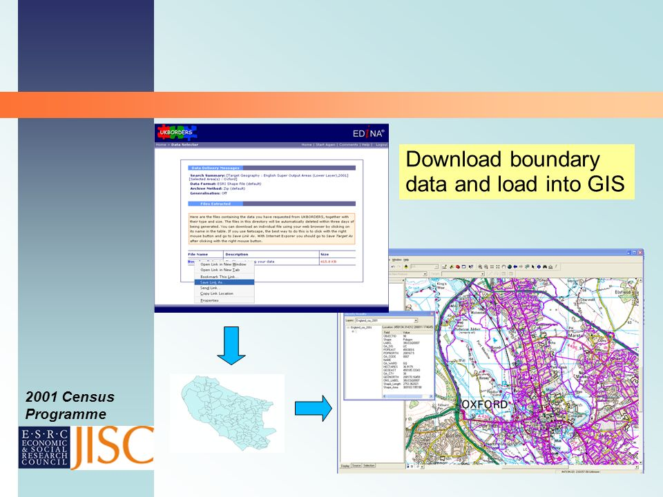 2001 Census Programme Download boundary data and load into GIS